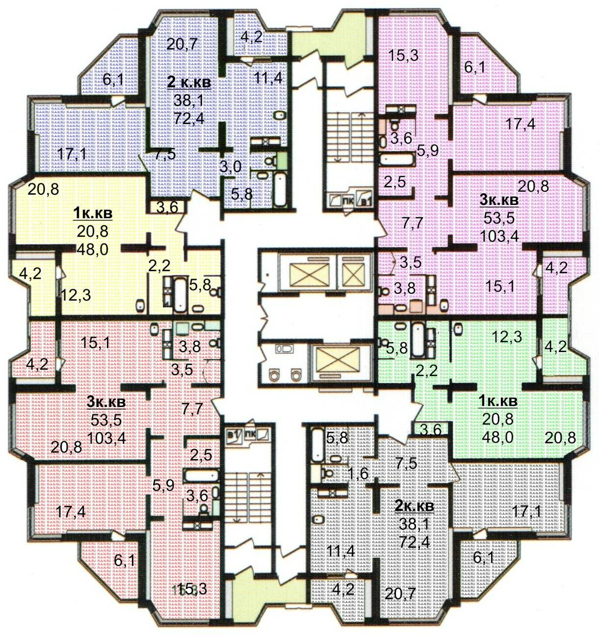 Продажа 3-х комнатных квартир в люберцах, , комсомольский пр.